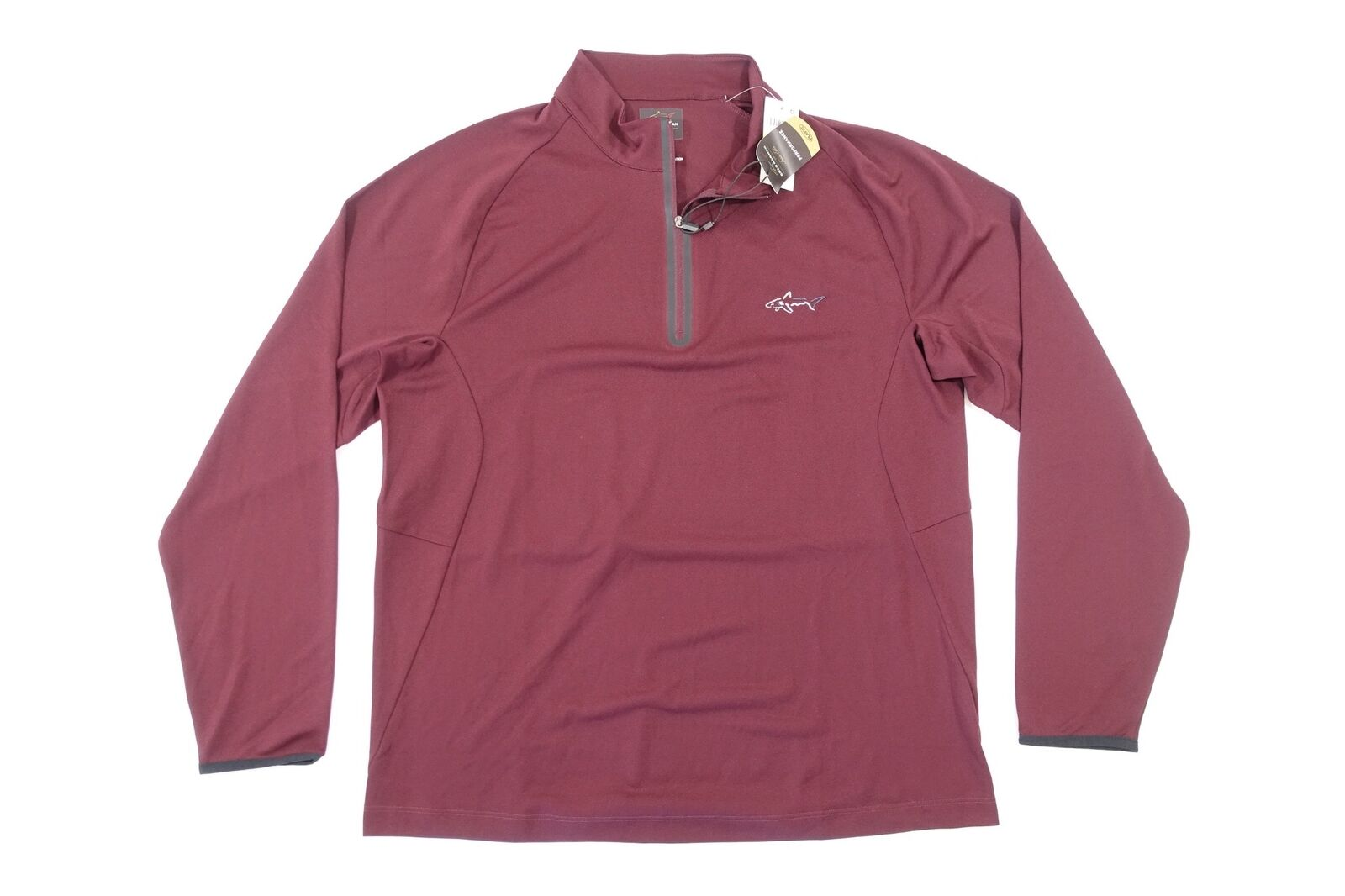 TASSO ELBA GREG NORMAN RED PORT SMALL PLAY DRY HALF ZIP PERFORMANCE SWEATER NWT