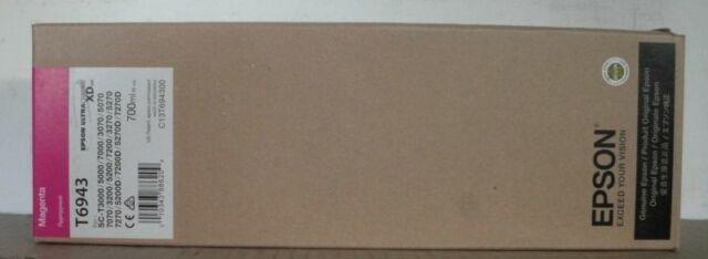 Epson Tinte T6943 magenta   SC-T3000 SC-T3200 SC-T5000 5200 7000 7200 7270 2017