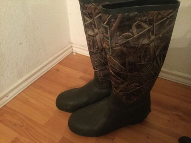 Game Winner Scent Free 400gr Thinsulate Ultra Men's Boots Camo Rubber Size 8