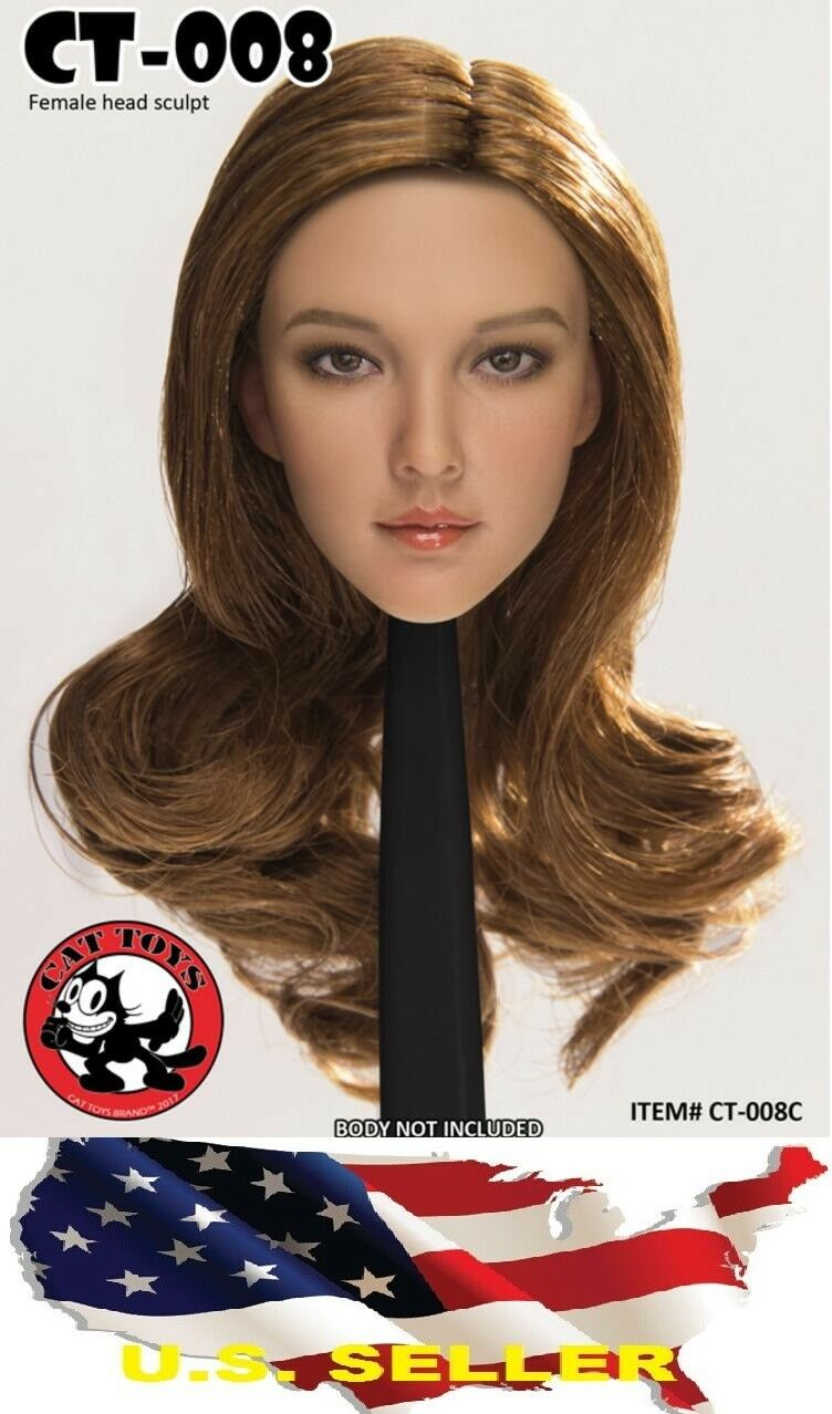 1 6 Female Head sculpt American European CT008C for for for Pale Phicen Hot Toys ❶USA❶ 7119f1