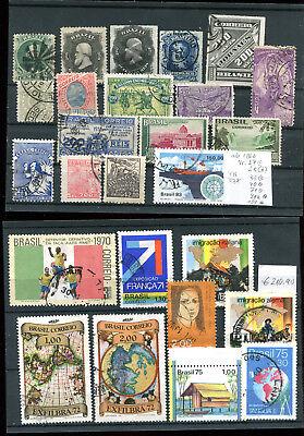Briefmarken Mutig Brasilien Lot Meist ältere Ausgaben Ab Nr 27 Ungebraucht/gestempelt