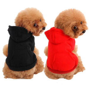 Spring Dog Shirt Warm Small Dog Hoodie Clothes Apparel For Small