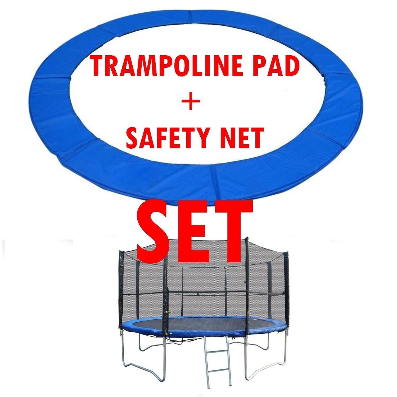 Trampolin Polsterung Matte und Sicherheitsnetz Set 8FT │ PVC Doppel Verschluss
