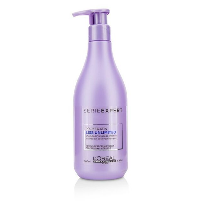 L'Oreal - Liss Unlimited Prokeratin Intense Smoothing Shampoo 500ml Thick Hair