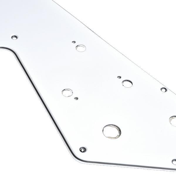 white 3 ply hh pickguard for flying v electric guitar