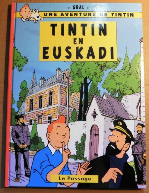 PASTICHE Tintin - TINTIN EN EUSKADI - Cartonné 42 pages en n&blanc. PAYS BASQUE