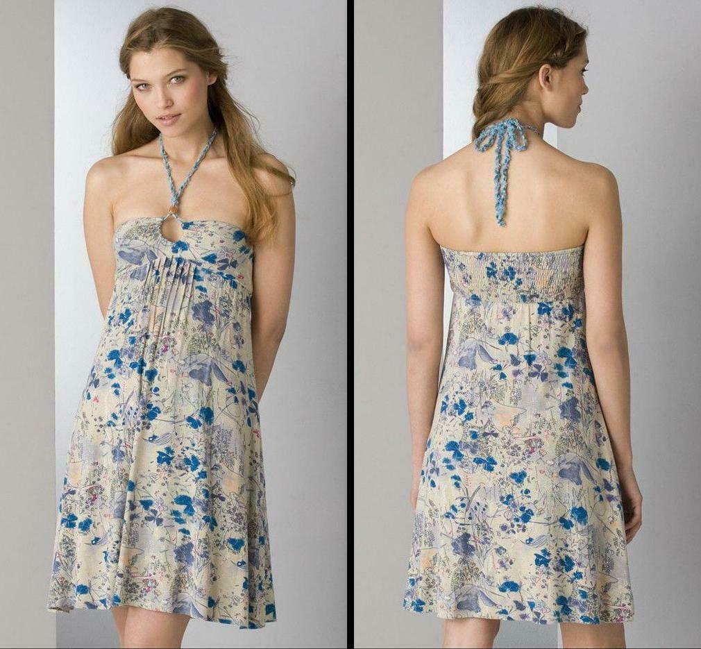 Free People Sun Dress Blau Floral Print Summer Sundress Größe 2   XS
