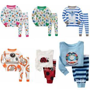 6fda7461a 2-7Y Boys sleepwear cartoon pictures Long-sleeved pants pajamas set ...