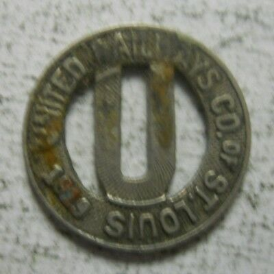 Louis United Railways Company of St MO910E Missouri transit token