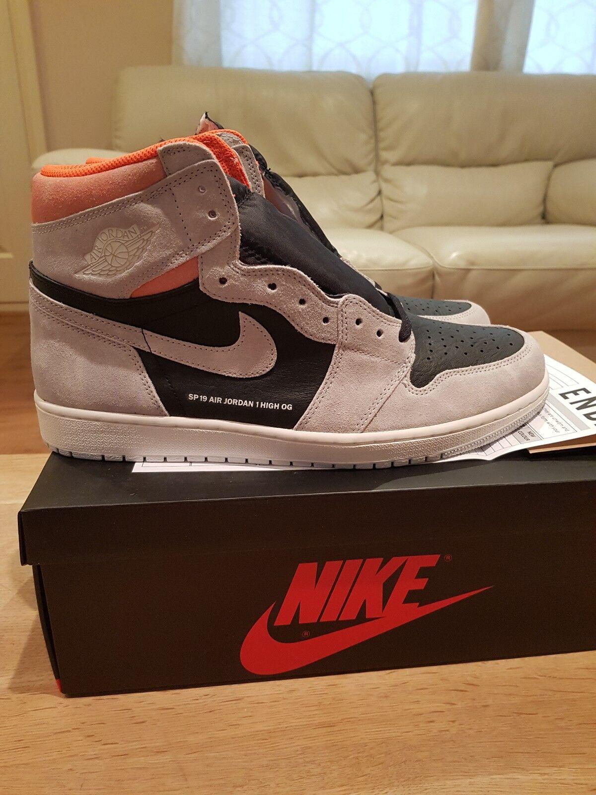 info for 71be7 401ba Nike Air Jordan 1 Retro High Hyper Crimson Crimson Crimson OG Grey Org UK  12 581826