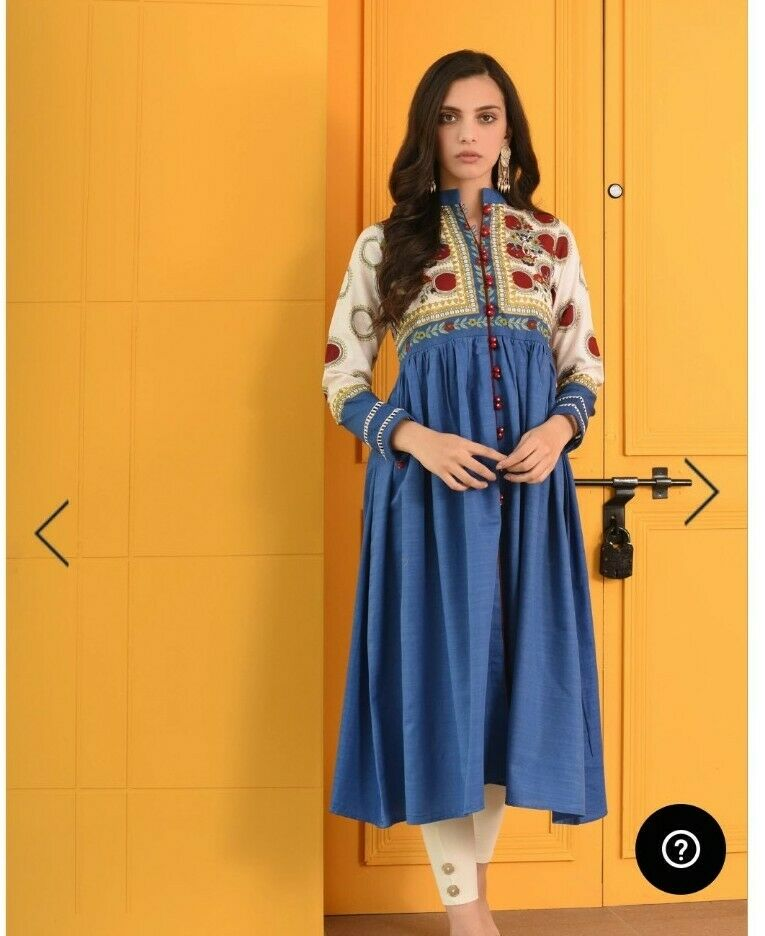 Ethnic By Outfitters Frock Small new Khaddar Winter Stuff Khaadi Agha Noor
