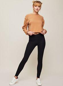 8aa53b3f811 New Ladies Warm Thermal Legging Black Winter Fleece Plus Size 8-20 ...