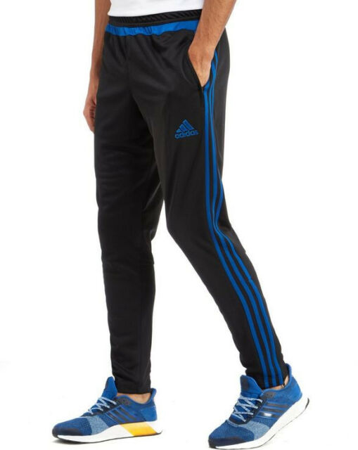 adidas 3 Stripe Tiro15 Mens Track Training Pants Football Trousers Sports SMALL