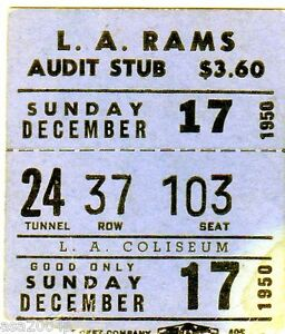 1950-CHICAGO-BEARS-LOS-ANGELES-RAMS-PLAYOFF-GAME-TICKET-STUB