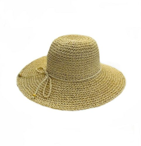Crochet Seagrass Women's Hat Natural Wide Brim