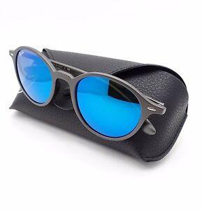 5fc3370c5bf09 Ray Ban Tech 4237 6206 17 Matte Grey Blue Mirror Sunglasses New ...