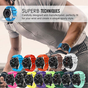 Sport-Rubber-Silicone-Wrist-Watch-Band-For-Samsung-Gear-S3-Frontier-Classic-22mm