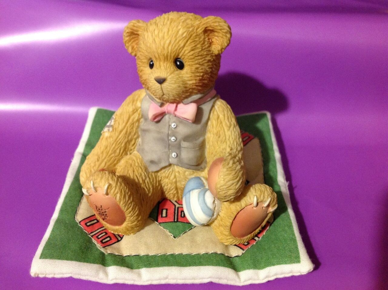 CHERISHED TEDDIES 2000 FIGURINE, GROOM, BRADFORD EXCLUSIVE, HTF, 74116, NIB