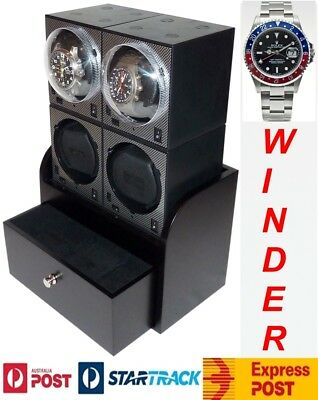 "Genuine ""boxy"" Brand Brick Automatic Watch Winder System 4x 3 model 4b2 Driving A Roaring Trade"