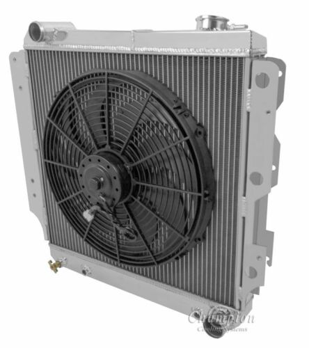 1987-2004 Jeep Wrangler YJ Chevy V8 Engines 3 Row Champion Radiator /& Fan