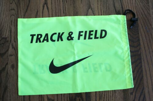 54 Nike Racing Track /& Field Spikes Cleats Shoe String Bag Drawstring Yellow NEW