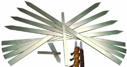 Shoptada Professional Restaurant Bbq Stainless Steel SkewersFlat Extra Long 2