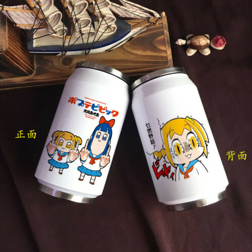 POP TEAM EPIC Cute Security Creative Stainless Steel Insulation Cans Cup New 02