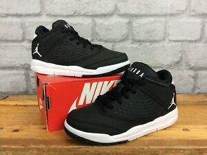 Détails sur Nike Air UK 10 EU 27.5 Jordan Flight Origin 4 Noir Blanc Baskets enfant Lg afficher le titre d'origine