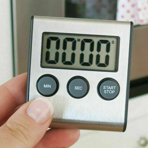 LCD Digital Kitchen Cooking Timer Loud Clear Alarm Clock Timer Magnetic Tool US