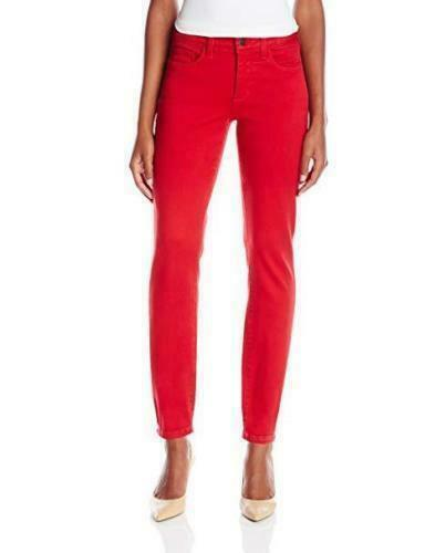 NWT NYDJ Not Your Daughters Jeans CRIMSON Creme CRMD RED Petite Legging