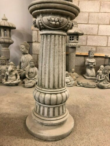 Buddha Statue /& Plinth,Home /& Garden,Large stone column and stone buddha ornamen