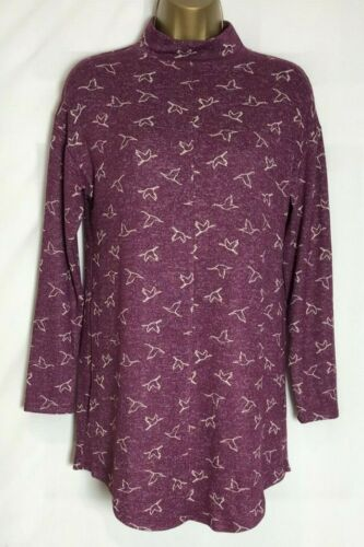 ms-288h M/&S Blue or Plum Soft Stretch Jersey Tunic Top Size 8-24