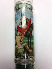 San Martin Caballero 7 Day Unscented Candle in Glass Saint Martin Caballero