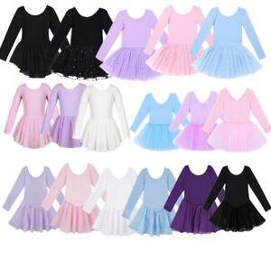 Toddler-Girls-Gymnastic-Leotard-Ballet-Dancewear-Tutu-Skirt-Ballerina-Costume