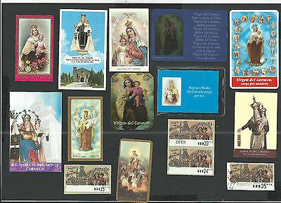 14 Estampas De La Virgen Del Carmen Santino Holy Card Image Pieuse Conveniente Para Cocinar