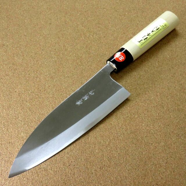 japanese kitchen knives for sale japanese kiyotsuna kitchen deba knife 180mm 7 1 quot single edged left handed japan for sale online 9071