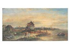 Küstenlandschaft - Segelschiffe - Ölgemälde, signiert A.Norley