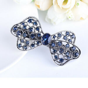 Fashion-Crystal-Rhinestone-Flower-Hair-Barrette-Clip-Hairpin-Women-Girl-Gift