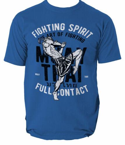 Thai T Muay Shirt Top Men Fighting spirit MMA Tiger Phuket Unisex S-3XL