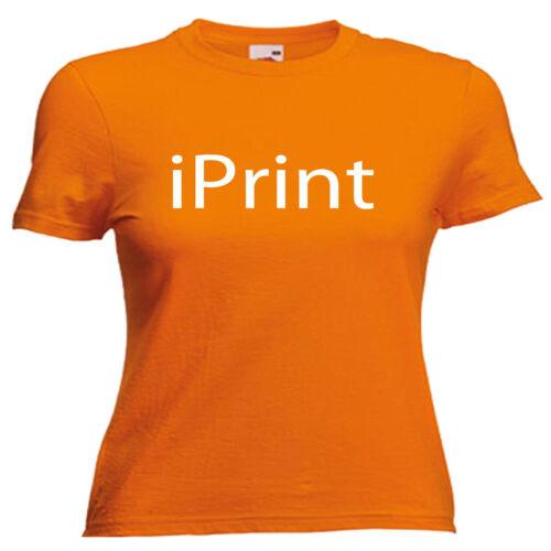 Printer Ladies Lady Fit T Shirt Size 6-16