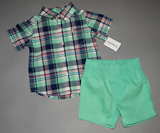 Baby boy clothes, 6 months, Carter's dress shirt, matching shorts