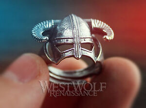 SKYRIM-Dragonborn-Iron-Helmet-Ring-in-925-Sterling-Silver-Size-8-9-10-11-12-13