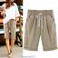 Plus-Size-Knee-Length-Pants-Women-Summer-Elastic-Waist-Lace-Up-Short-Pants thumbnail 8