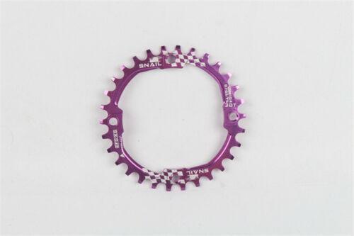 MTB Bike Round Chain Wheel 30T 104BCD Chainring Positive Negative Teeth AL Alloy