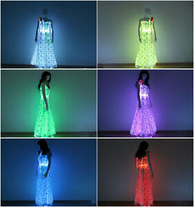 Glow In The Dark Evening Dress Fiber Optic Prom Dresses Light Up
