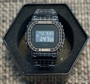 Custom-Grid-Pattern-Laser-Engraved-Stainless-Steel-Casio-G-Shock-DW-5600