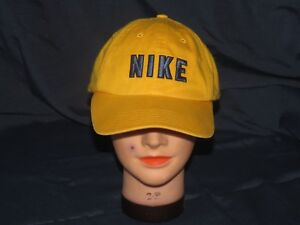 65759e55 g2 NIKE YELLOW N-71 DAD HAT fitted Size 7 3/8 CAP GOLF VINTAGE SPELL ...