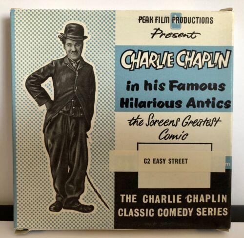 Pico de películas Charlie Chaplin Easy Street estándar 8mm 200ft cine Stock viejo inusitado