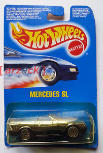 HOT-WHEELS-Mattel-1990-MERCEDES-SL-vintage-9770
