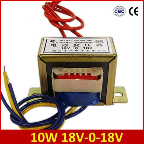Input AC 220V//50Hz 10W Dual 18V 18V*2 Power Transformer Output AC 18V-0-18V EI48